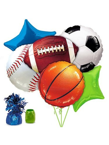 Sport Theme Party Ideas (Costume Supercenter BB102233 Sports Party Balloon Kit)