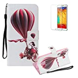 For Samsung Galaxy S7 Edge Case,Funyye 3D Colourful Premium Folio PU Leather Wallet Magnetic Flip Cover with [Wrist Strap] and [Credit Card Holder Slots] Full Body Protection Holster Case for Samsung Galaxy S7 Edge-Hot Air Balloon