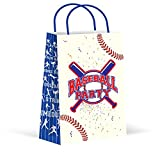 LARZN Premium Baseball Party Bags, Treat Bags, New, Gift Bags,Goody Bags, Baseball Party Favors, Baseball Party Supplies, Sports Decorations, 12 Pack