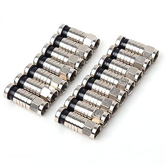 CISNO Herramienta de compresión F BNC RCA RG6 RG59 Conector para Cable coaxial Coaxial crimpadora: Amazon.es: Electrónica