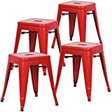 """Poly and Bark Trattoria 18"""" Stool in Red (Set of 4)"""