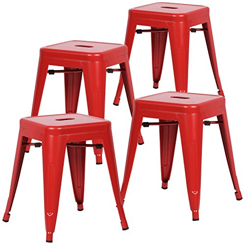 4 Chairs Set Red (Poly and Bark Trattoria 18