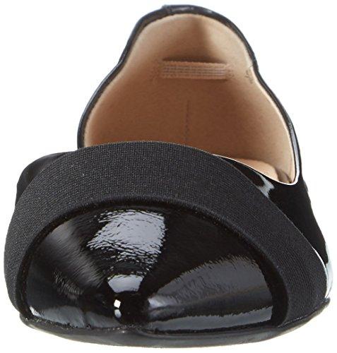 Caprice Damen 22110 Geschlossene Sandalen mit Keilabsatz, Schwarz (Black Patent), 38 EU