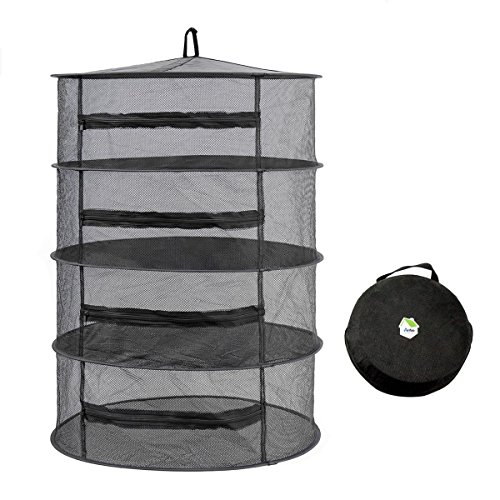 Arifoo Herb Drying Rack Hanging Drying Racks 4 Layer Collaps