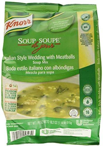 Knorr Soup du Jour Mix Italian Style Wedding with Meatballs 18.2 ounces 4 (Italian Wedding Soup Mix)