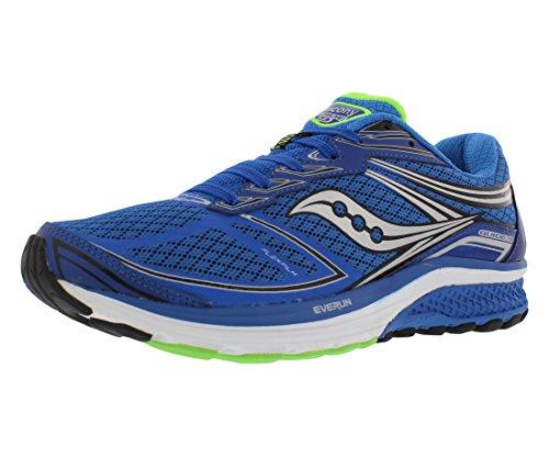 Running Shoe Fit Guide (Saucony Men's Guide 9 Running Shoe, Blue/Slime/Black, 11.5 M US)