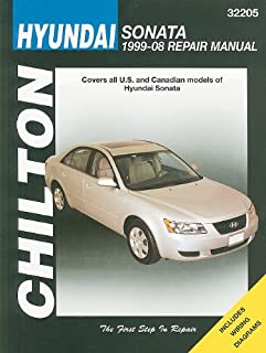 hyundai sonata automotive repair manual 1999 through 2008 tim rh amazon com 2008 hyundai sonata service manual 2008 hyundai sonata manual pdf