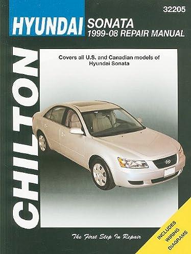 hyundai sonata 1999 thru 2008 chilton s total car care repair rh amazon com 2004 Hyundai Sonata 2000 Hyundai Sonata
