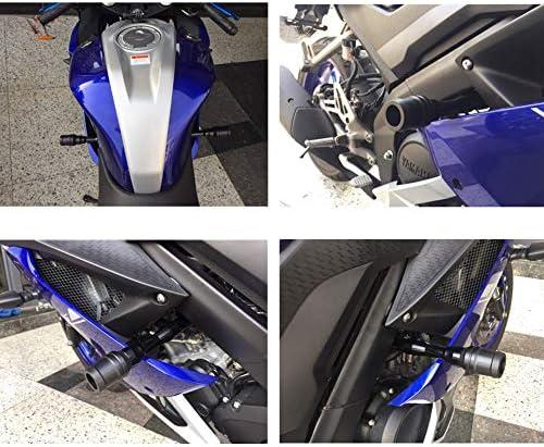 FairOnly Convenient Life Motorcycle Fairing Guard Falling Protection Crash Pad Protector for YAMA-HA R15 V3 Blue