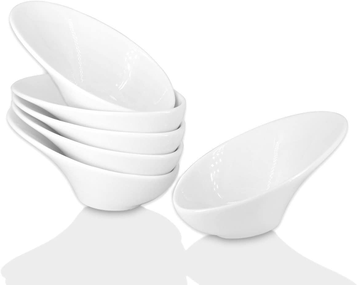 Amazon Com Holitika Olive Oil Dipping Dishes Soy Sauce Dish Dipping Bowls Set White Porcelain Dipping Sauce Bowls Dishes For Soy Sauce Ketchup Bbq Sauce Or Seasoning 1 Oz Set Of 6 D2 Serving