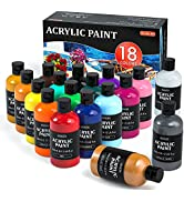 Shuttle Art 18 Colors 8 oz Acrylic Paint Bottle Set
