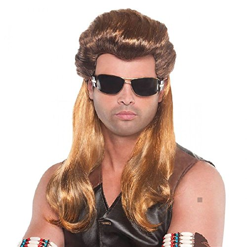 Dog The Bounty Hunter Costume Wig Adult Halloween Fancy Dress