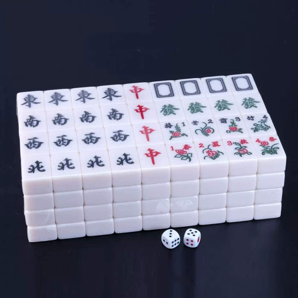Mah Jong Azulejos Juego de Mesa Juegos de Mahjong Chino Tradicional Juego Chino Mahjong Entretenimiento Mejor Regalo for el Amante de Mahjong Mahjong magnética Adecuado for Mahjong máquina: Amazon.es: Hogar