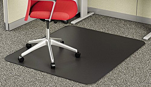 Supermat Vinyl (deflecto CM14242BLK SuperMat Frequent Use Chair Mat, Medium Pile Carpet, Beveled, 45 x 53, Black)