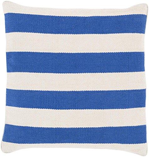 "18"" Rayas Banderas Royal Blue and Light Gray Decorative Square Throw Pillow"
