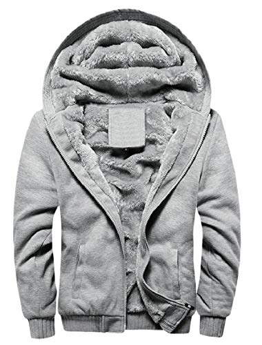 2 Pile Giacca Felpe Più Cerniera Cappotti Di Caldi Uomini In Tasca Con Inverno Della Formato Sicurezza Uq4xgCwZ