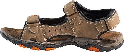 Nordcap Trekkingsandalen, Damen- und Herren- Sandalen, Wander- und Outdoor- sandalen mit regulierbaren Schnallen und Profilsohle für mehr Trittsicherheit (Größen: 37 - 46, Farbe: Braun / Orange)