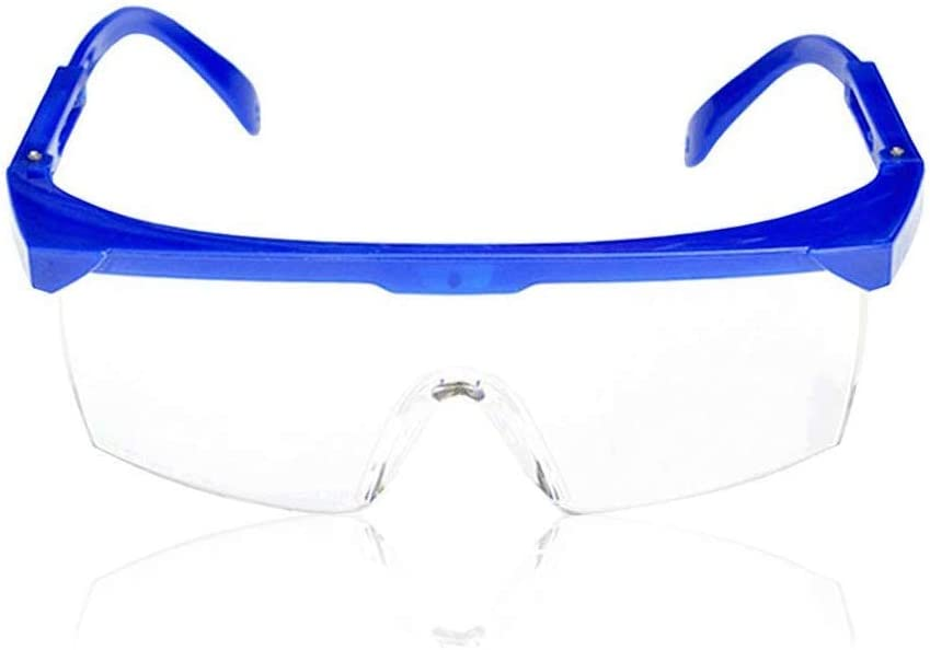 Nubstoer Gafas de protección Gafas de Seguridad Marco Azul Lente Transparente al Aire Libre Resistente Azul