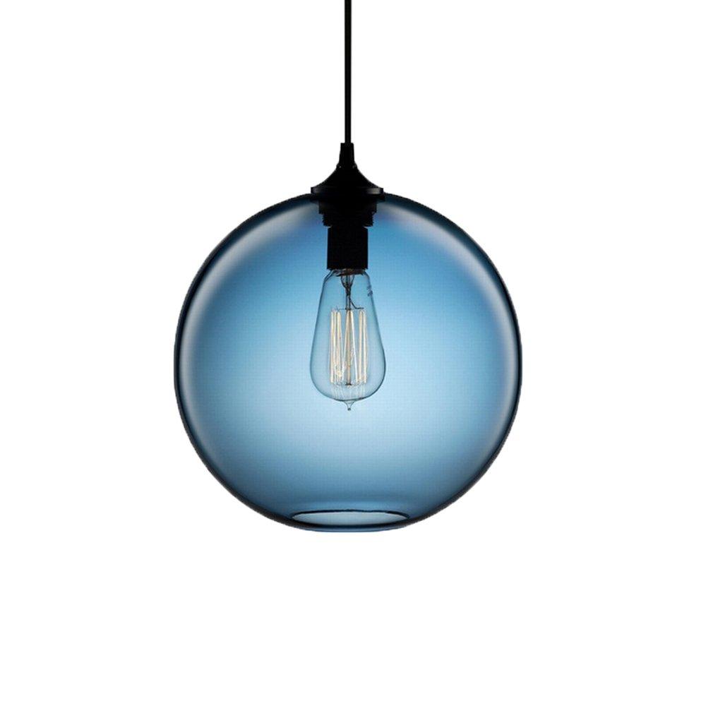 Newrays Hanging Single Glass Pendant Lights Kitchen Island Lighting ...