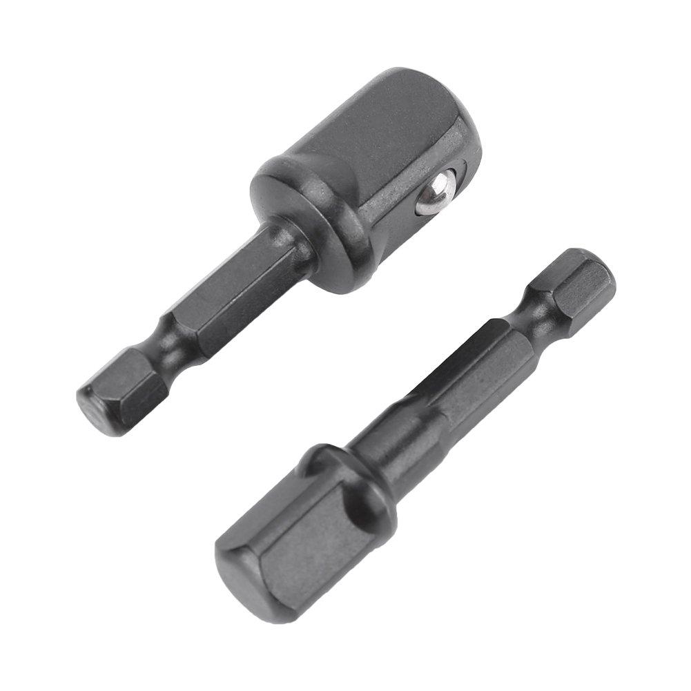 Set di 8 pezzi adattatore presa di corrente adattatore per attacco bussola esagonale punta esagonale punte per trapano elettrico set 1//4 3//8 1//2 pollici