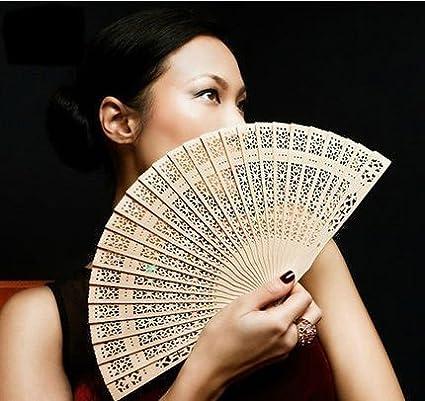Demarkt Ventilateur en Bambou Eventail /à Main Bois Papier DIY Jouet D/écoration /à Suspendre Pliable Artisanal Loisirs Cr/éatifs pour F/ête de Mariage Maison