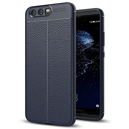 """Huawei P10 (5.1"""") Hülle, MSVII® Anti-Shock Weich TPU Silikon Hülle Schutzhülle Case Und Displayschutzfolie für Huawei P10 (5.1"""") - Blau JY90087"""