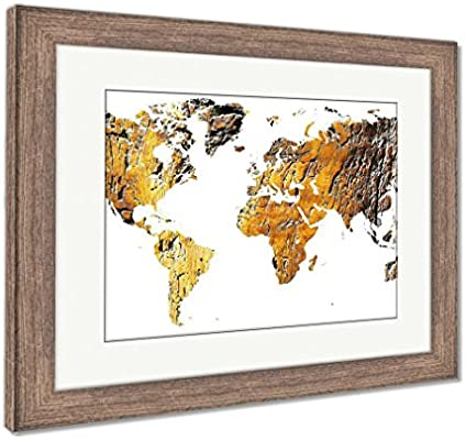 Wood World Map Cut Out.Amazon Com Ashley Framed Prints World Map Cut Out In Antique Grunge