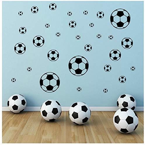 LIANGLE Wall Sticker Wall Stickers Murals 30/Set Football Wall Decals Art Vinyl Sticker Boy Room 4 Different Sizes Soccer DIY Self-Adhesive Wall Stickers Home Decor (Best Vinyl Reissues 2019)