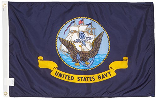 Seal Pennant - US Flag Store Navy 2ft x 3ft Nylon Flag