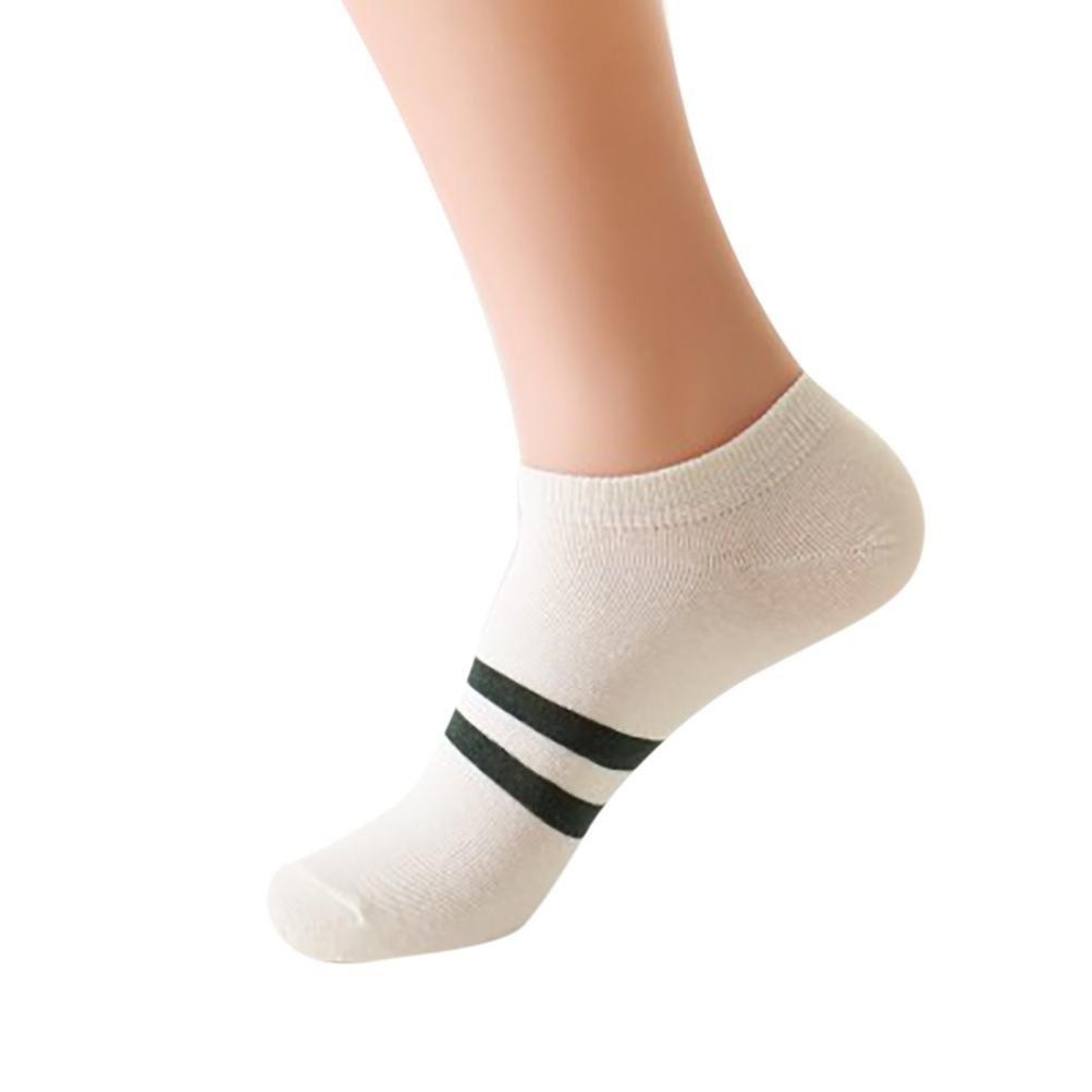 Hot Sales!!! FimKaul UnisexCute Retro Stripe Fashion Men Stockings Comfortable Socks (Begie)
