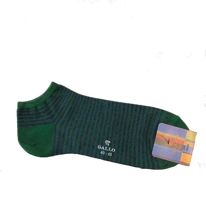 Gallo - Calcetines cortos - para hombre Verde Verde Righine Blu Melange 40-45