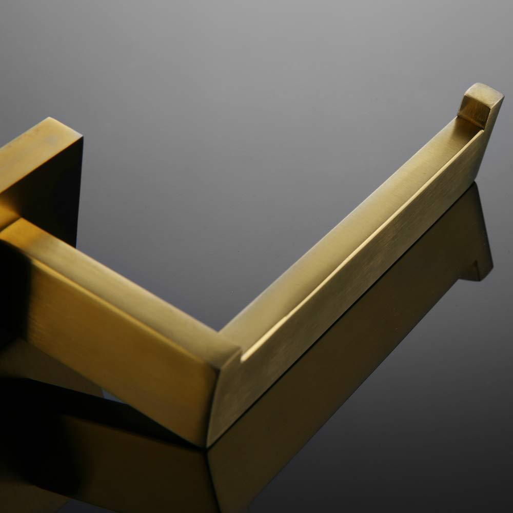 VELIMAX Modern Toilet Paper Holder Stainless Steel Toilet Paper Roll Holder Wall Mount for Bathroom Brushed Gold Finish