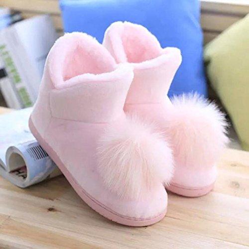 Zapatillas para mujeres embarazadas,Ouneed ® Mujeres Calzados Inicio Calzado De Pelo Invierno Cálido Mujeres Embarazadas Zapatos Rosado