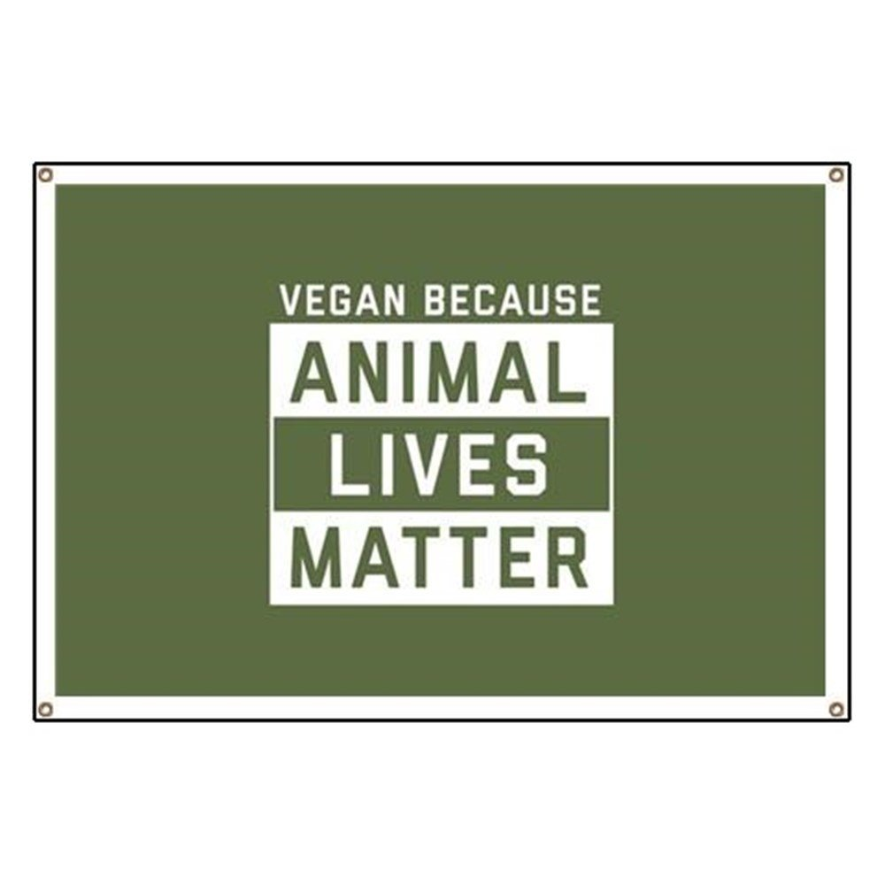 CafePress Animal Lives Matter - Vinyl Banner, 44''x30'' Hanging Sign, Indoor/Outdoor by CafePress