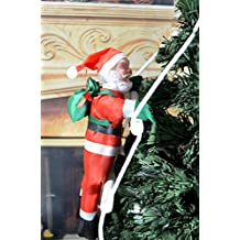Loviness Christmas Climbing Santa Claus Climbing On Rope Ladder Christmas Tree Indoor/Outdoor Hanging Ornament Decoration Christmas Tree Pendants Drop