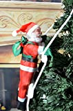 AnciTac Cute Climbing Santa Claus on Ladder, Classic Decorative Christmas Tree Hanging Ornaments, 14.5
