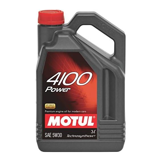 Motul 4100 Power 5W30 API SM/CF Semi Synthetic Engine Oil for Petrol,Diesel,CNG & LPG Cars (3 L)