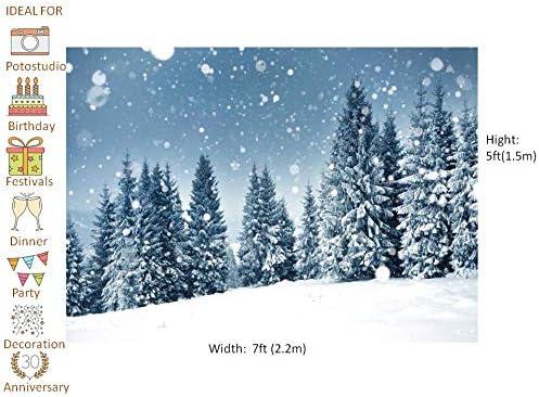 Waw 2 2x1 5m Fotohintergrund Winter Wald Schneefall Kamera