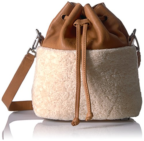and Shearling Liebeskind Cognac Berlin Missisippi Bag Bucket Lambskin Women's tqH7HwI