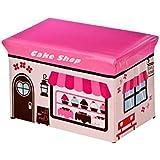FunkyBuys® Large Kids Children CAKE SHOP Large Storage Box Books Toy Stool Chest Children Fun Seat