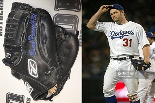 (Brad Penny Signed 2007 Game Worn Used Dodgers Baseball Glove BAS COA Autograph - Beckett Authentication)