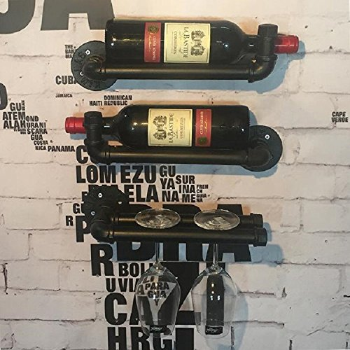 Price comparison product image Industrial Pipe Design Wine Rack Ann