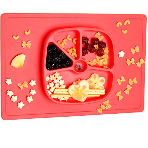 Non Slip Silicone Kids Placemats with Plate for Toddlers Babies Children