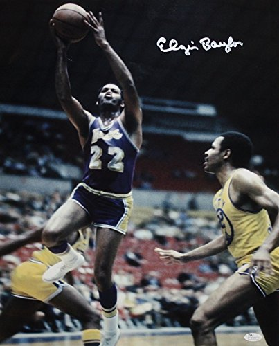 Elgin Baylor Autographed 16x20 In Air Front View Photo- JSA (Signature Air Hockey)