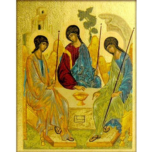 World Faith Religious Magnet Icon Old Testament Trinity Icon Magnet Greek Serigraph Icon 2-1/4 x 2 Inches Magnet Icon