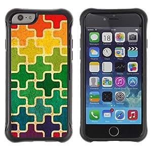 Suave TPU GEL Carcasa Funda Silicona Blando Estuche Caso de protección (para) Apple Iphone 6 PLUS 5.5 / CECELL Phone case / / Moroccan Rainbow Cross Pattern /