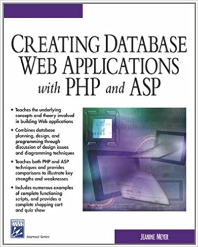 Creating Database Web Applications With PHP and ASP