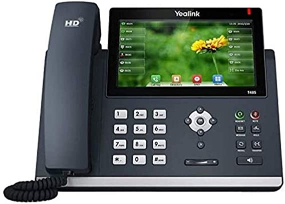 16 VoIP Accounts Dual-Port Gigabit Ethernet 7-Inch Adjustable Color Touch Screen 802.3af PoE Power Adapter Not Included 802.11ac Wi-Fi Yealink T57W IP Phone SIP-T57W USB 2.0