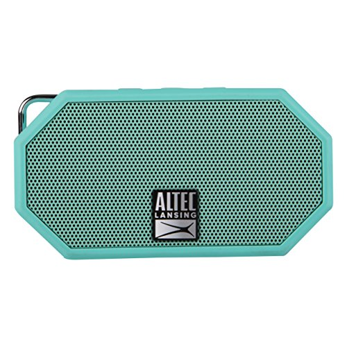 (Altec Lansing IMW257-MT Mini H2O Wireless Bluetooth Waterproof Speaker, Floating IP67 Waterproof, Boat, Hiking, Golf Cart, Atv, Utv, Lightweight, 6-Hour Battery Life, (Mint))