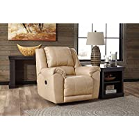 Signature Design by Ashley 2920225 Galaxy Contemporary Manual Pull Tab Reclining Yancy Leather Upholstered Rocker Recliner